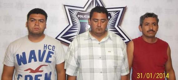 Gilberto González Sánchez, Gonzalo Espinoza Avilés y Erick Alberto Romero Valdez.