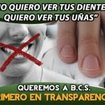 Queremos a BCS primero en transparencia