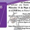 Noches de Plenilunio, en el malecón de esta capital, el próximo miércoles 14 de mayo.