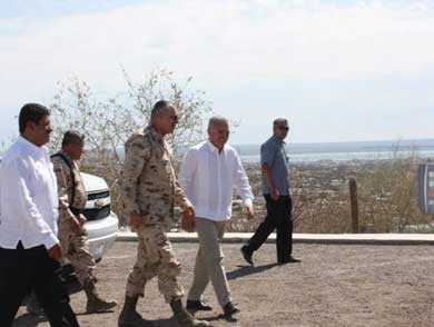 El General Secretario de la Defensa Nacional Salvador Cienfuegos Zepeda
