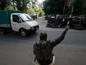 puesto de control del ejército ucraniano