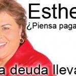 Esthela, ¿piensa pagarnos? (banner)