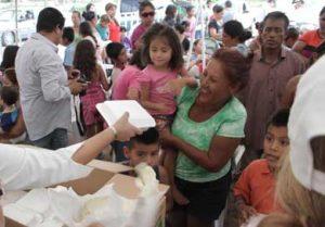 Familias afectadas por las recientes lluvias en la colonia La Pasión.