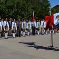 día de la bandera en la plaza pública Benito Juárez