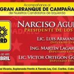 Invitación al arranque de campaña de Narciso Agundez