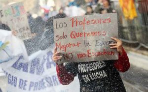 paro de maestros chileno