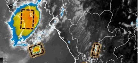 imagen de satélite muestra nubosidad en desarrollo