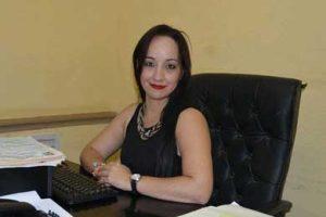 Nadia Meza Montaño, recaudadora de Rentas Municipal
