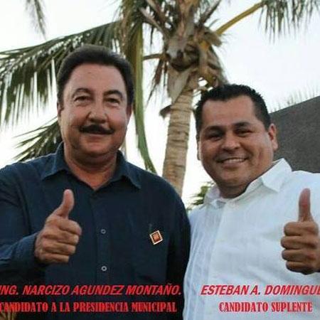 Esteban Dominguez hace cuatro meses, cuando apoyaba a Narciso