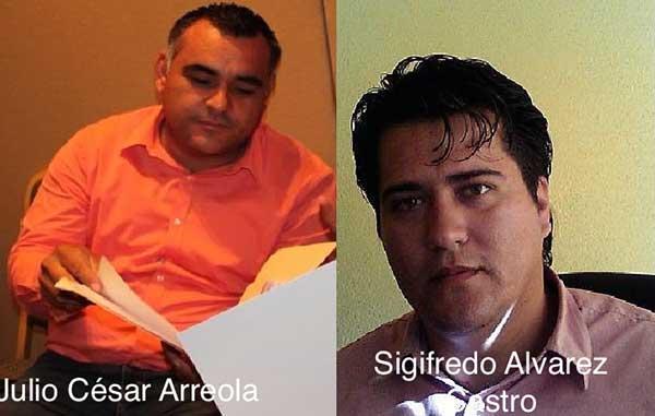 Julio César Arreola y Sigifredo Álvarez Castro