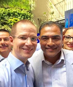 Arturo de la Rosa y Ricardo Anaya