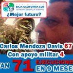 Van 71 ejecuciones... (con apoyo militar)