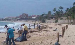 limpieza y rehabilitación en las playas