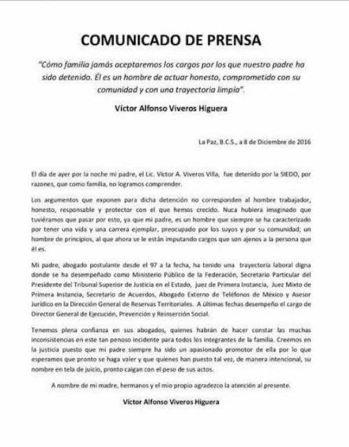 Conf an en que se pruebe la inocencia de v ctor viveros for Viveros en capital federal