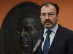 Durante una conferencia sobre su reciente gira en EU, el canciller, Luis Videgaray, aseguró que no pretende ser candidato presidencial.