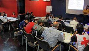Introducción al Sistema de Mando de Incidentes SMI-100, dirigido a 21 elementos del Sistema Municipal de Protección Civil, Bomberos de San José y Cruz Roja Mexicana.