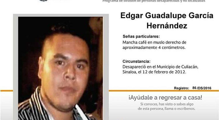 ¿Has visto a Edgar Guadalupe García Hernández?
