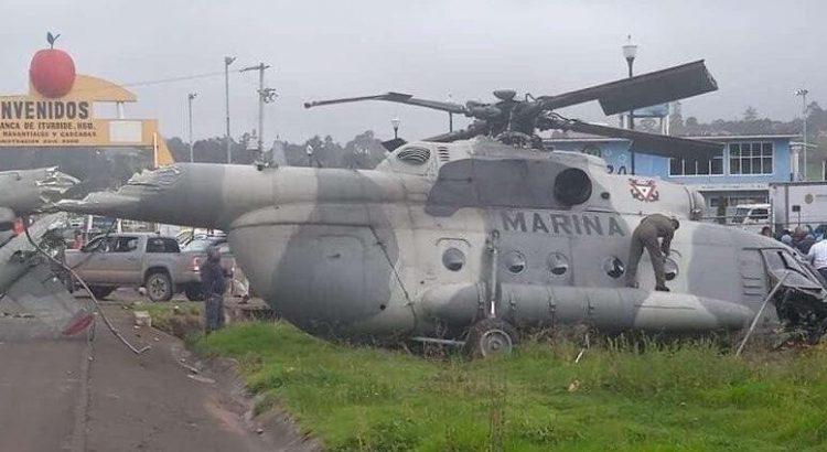 Se desplomó el helicóptero donde viajaba el Secretario General de Gobierno de Veracruz