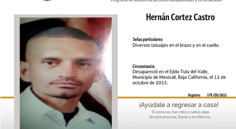 ¿Has visto a Hernán Cortez Castro ?