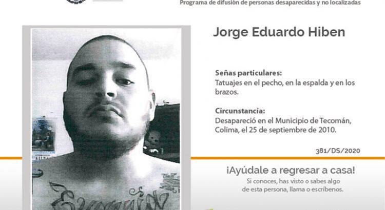 ¿Has visto a Jorge Eduardo Hiben?