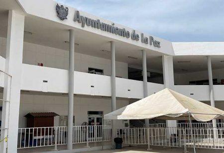 Sin luz el Palacio Municipal de La Paz