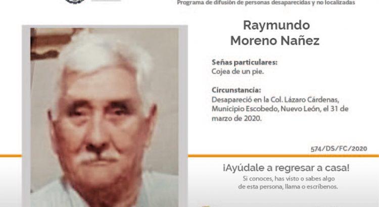¿Has visto a Raymundo Moreno Nañez?