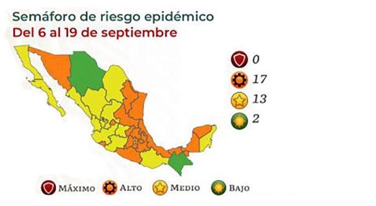 Avanza México en el Semáforo Covid