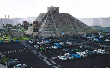 Españoles reconstruyen la gran pirámide de Tenochtitlan … ¡En Madrid!